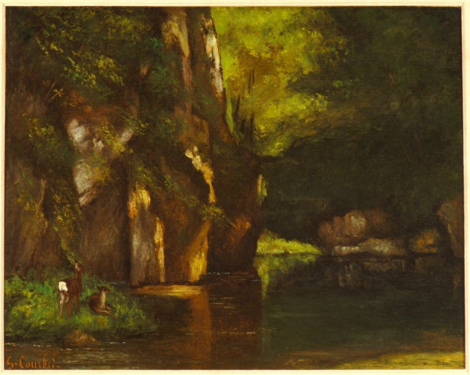 Gustave Courbet, Le Ruisseau du Puits-Noir (Der Waldbach am Puits-Noir), 1865, Öl auf Leinwand, 63,8 x 81,3 cm, Columbus Museum of Art, Ohio; Museum; Purchase, Derby Fund.