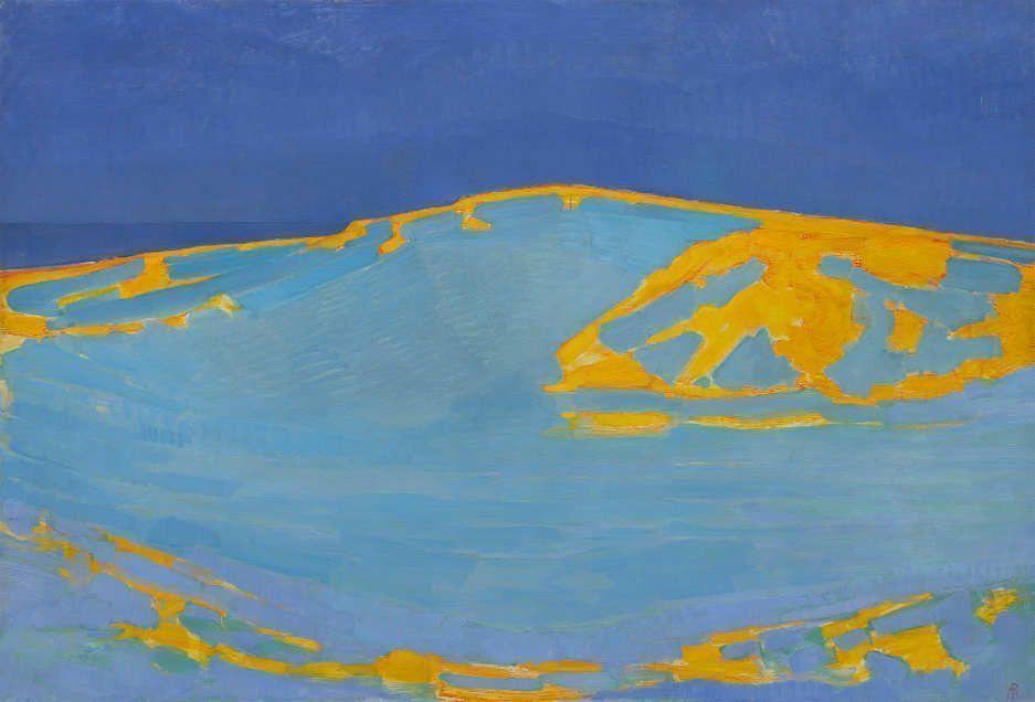 Piet Mondrian, Sommer, Düne in Zeeland, um 1910, Öl auf Leinwand, 134 x 195 cm (Solomon R. Guggenheim Museum, New York)