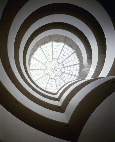 Solomon R. Guggenheim Museum, New York, Blick nach oben, Foto: David M. Heald, © SRGF, New York.