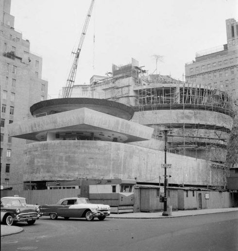 Das Solomon R. Guggenheim Museum während der Errichtung, um 1958, Foto: William H. Short © Solomon R.Guggenheim Foundation, New York