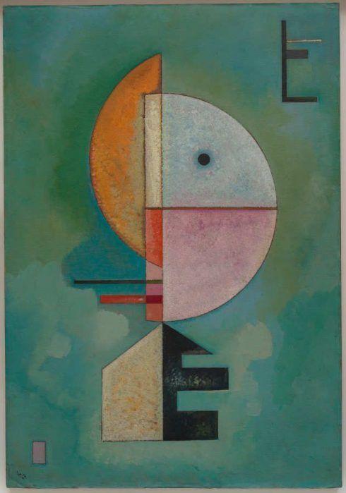 Wassily Kandinsky (Moskau 1866–Neuilly-sur-Seine 1944), Upward (Empor), Oktober 1929, Öl auf Karton, 70 x 49 cm (Venedig, Peggy Guggenheim Collection, Inv.-Nr. 76.2553)