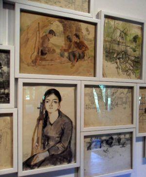Dinh Q. Lê u.a., Light and Belief: Voices and Sketches of Life from the Vietnam War, Kriegsbilder, Ausstellungsansicht dOCUMENTA (13) 2012, Foto: Alexandra Matzner
