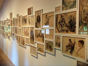 Dinh Q. Lê u.a., Light and Belief: Voices and Sketches of Life from the Vietnam War, Ausstellungsansicht dOCUMENTA (13) 2012, Foto: Alexandra Matzner