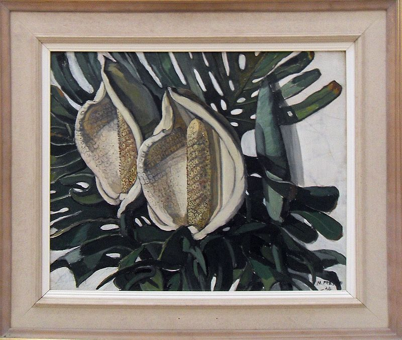 Margaret Preston, Monstera deliciosa, 1934, dOCUMENTA (13) 2012, Installationsfoto: Alexandra Matzner.