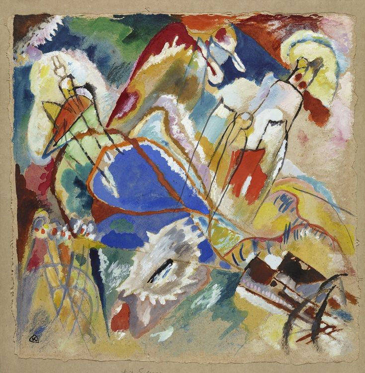 """Wassily Kandinsky, Entwurf zu """"Improvisation 30 (Kanonen)"""", 1913, Städtische Galerie im Lenbachhaus und Kunstbau München."""