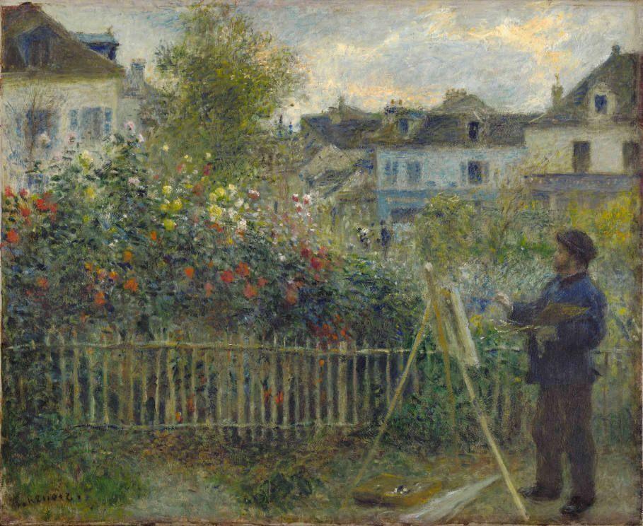 Auguste Renoir, Monet Malt In Seinem Garten In Argenteuil, 1873, Öl Auf  Leinwand
