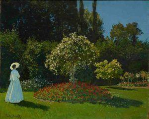 Claude Monet, Frau im Garten, 1867, Öl auf Leinwand, 80 x 99 cm, The State Hermitage Museum, St. Petersburg, Photo © The State Hermitage Museum. Photography: Vladimir Terebenin.
