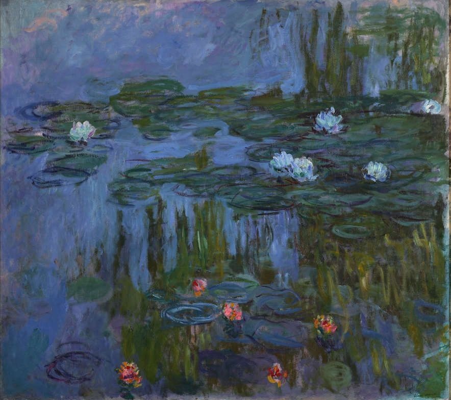 Claude Monet, Nymphäen (Seerosen), 1914–1915, Öl auf Leinwand, 160,7 x 180,3 cm, Portland Art Museum, Oregon. Museum Purchase: Helen Thurston Ayer Fund, 59.16, Photo © Portland Art Museum, Portland, Oregon.