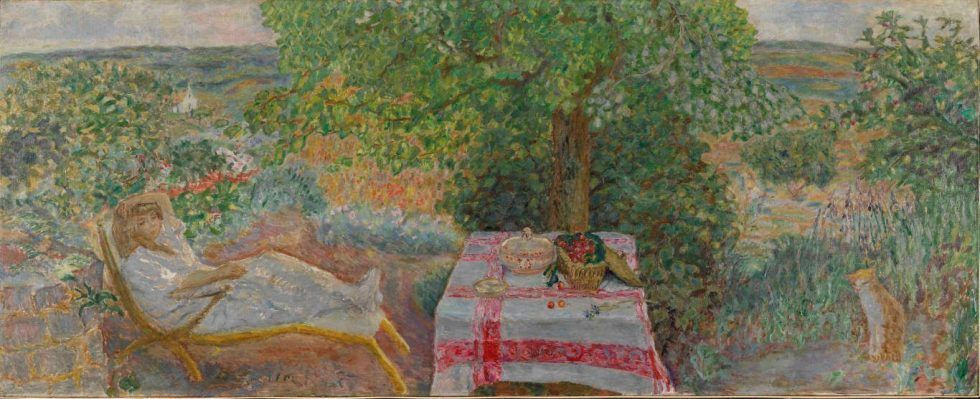 Pierre Bonnard, Rast im Garten (Sieste au jardin), 1914, The National Museum of Art, Architecture and Design, Oslo, Photo © Nasjonalmuseet for kunst, arkitektur og design/The National Museum of Art, Architecture and Design / © ADAGP, Paris and DACS, London 2015.