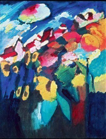 wassily kandinsky murnau der garten ii 1910 l auf karton 67 - Wassily Kandinsky Lebenslauf