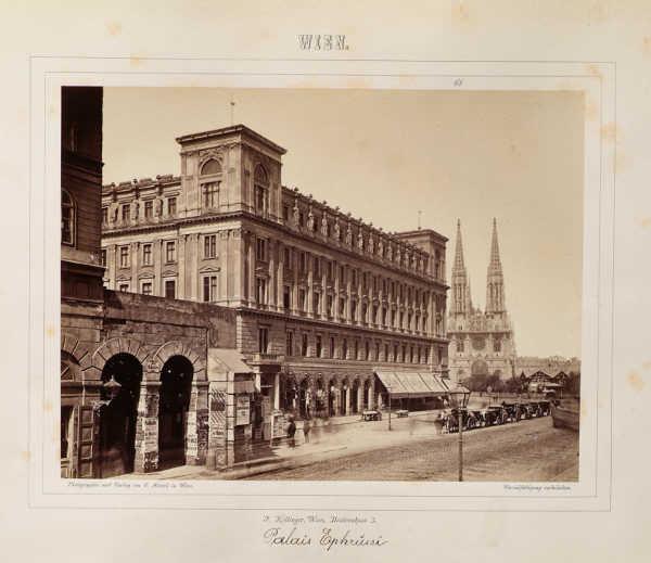 Palais Ephrussi, um 1870.