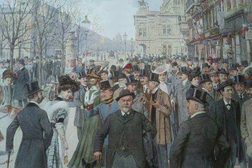 Anonym, Ringstraßen Korso, um 1900, Österreichische Nationalbibliothek.