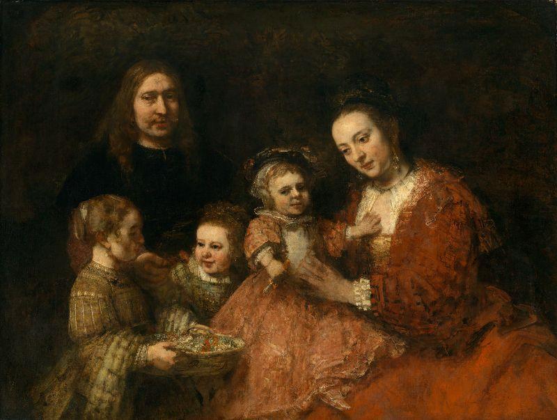 Rembrandt, Familienbildnis, um 1665, Öl auf Leinwand, 126 x 167 cm, Herzog Anton Ulrich-Museum, Braunschweig.