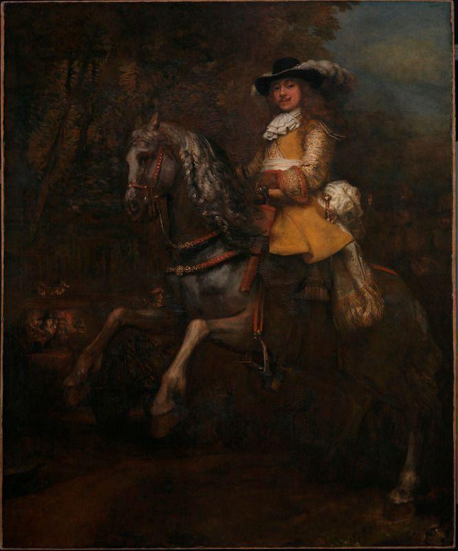 Rembrandt, Frederik Ribel zu Pferd, um 1663, Öl auf Leinwand, 294,5 x 241 cm, The National Gallery, London.