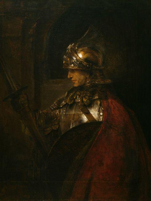 Rembrandt, Ein Mann in Rüstung (Alexander der Große?), 1655, Öl auf Leinwand, 137,4 x 104,4 cm, Glasgow Life (Glasgow Museums) on behalf of Glasgow City Council. Bequeathed by Jane Graham Gilbert, 1877, 601 © CSG CIC Glasgow Museums Collection.