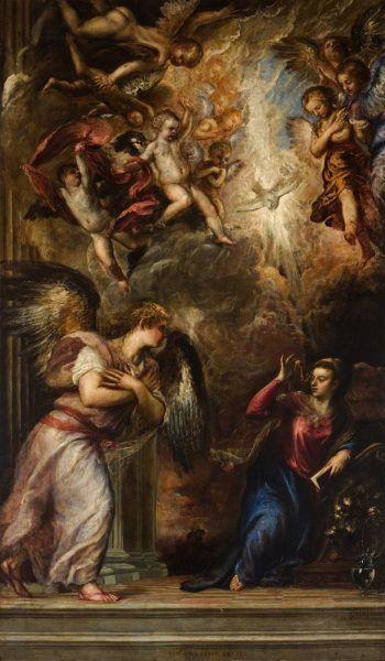 Tizian, Verkündigung, 1564-65 © Chiesa di San Salvador, Venedig.