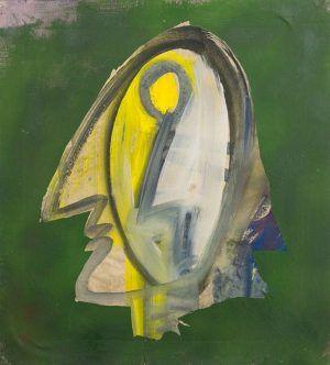 Siegfried Anzinger, Kopf, 1978, Mischtechnik auf Papier auf Leinwand, 55 x 50 cm, Foto: MUSA.
