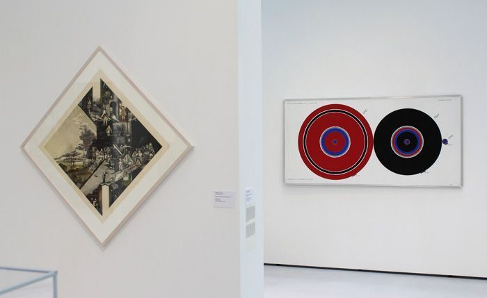 """Scheidl, Painitz, Ausstellungsansicht """"Die 70er Jahre"""" im MUSA 2013, Foto: Alexandra Matzner."""