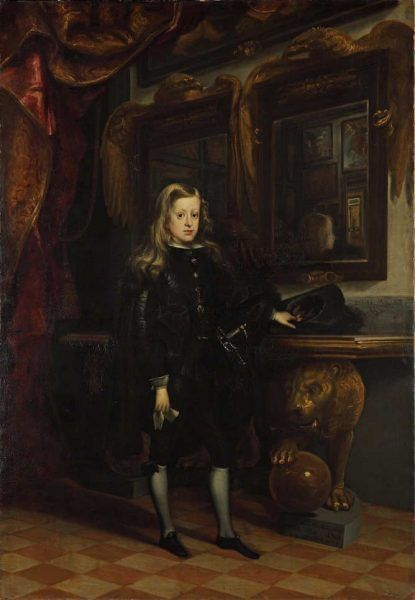Juan Carreño de Miranda: König Karl II. von Spanien als Knabe, 1673, Öl auf Leinwand, 205 × 142 cm (© Staatliche Museen zu Berlin, Gemäldegalerie, Foto: Jörg P. Anders)