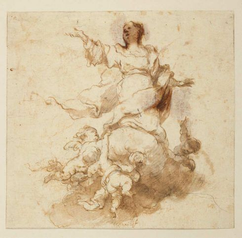 Bartolomé Esteban Murillo, Mariä Himmelfahrt, 1665-68 (© Staatliche Museen zu Berlin, Kupferstichkabinett, KdZ 28977), Foto: Volker-H. Schneider