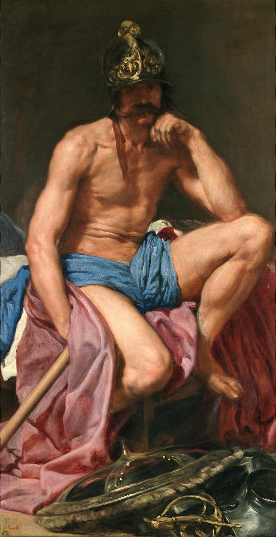 Diego Rodríguez de Silva y Velázquez, Der ruhende Mars, um 1638, Öl auf Leinwand, 179 × 95 cm (Museo Nacional del Prado. Madrid, Inv.-Nr. P 1208)