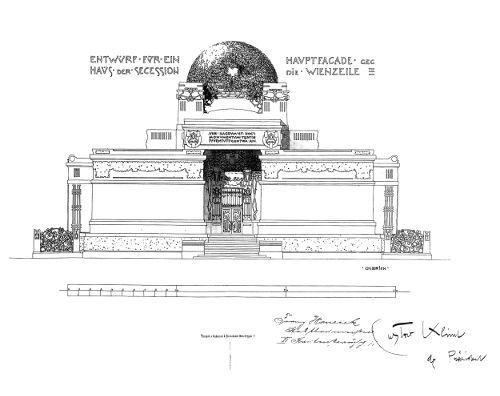 Joseph Maria Olbrich, Entwurf für die Secession, 1898, Archiv der Secession.