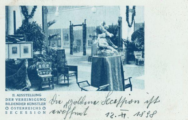 Einblick in die II. Ausstellung der Wiener Secession, Postkarte, 1898, Archiv der Secession.