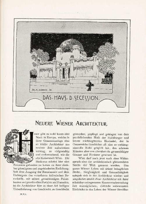 Deutsche Kunst und Dekoration, 1898/1899, Archiv: Alexandra Matzner.