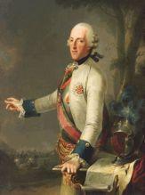 Anonym, Herzog Albert von Sachsen-Teschen mit dem Plan der Schlacht von Maxen, 1777, Albertina, Wien (Dauerleihgabe des Kunsthistorischen Museums Wien, Gemäldegalerie).