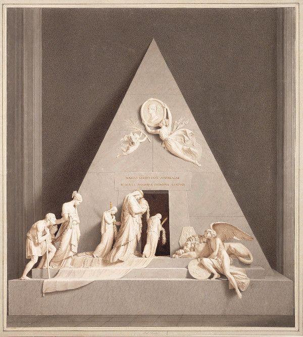 Domenico del Frate, Das Kenotaph Erzherzogin Marie Christines, o.D., Albertina, Wien.