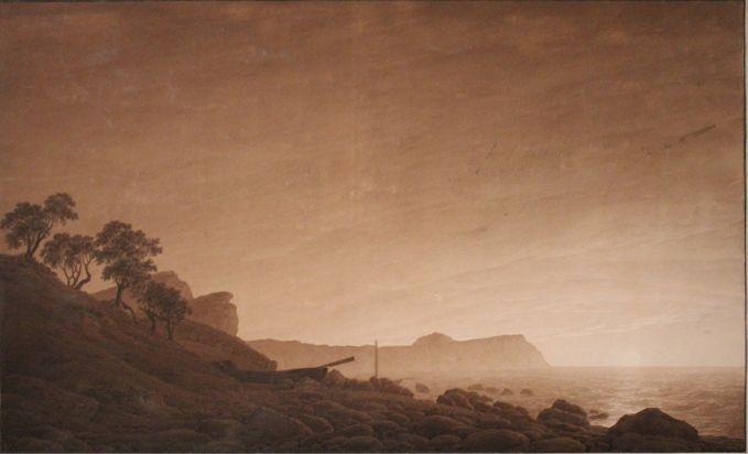 Caspar David Friedrich, Kap Arkona im Licht des aufgehenden Mondes, um 1805/06, Albertina, Wiien, Foto: Alexandra Matzner.