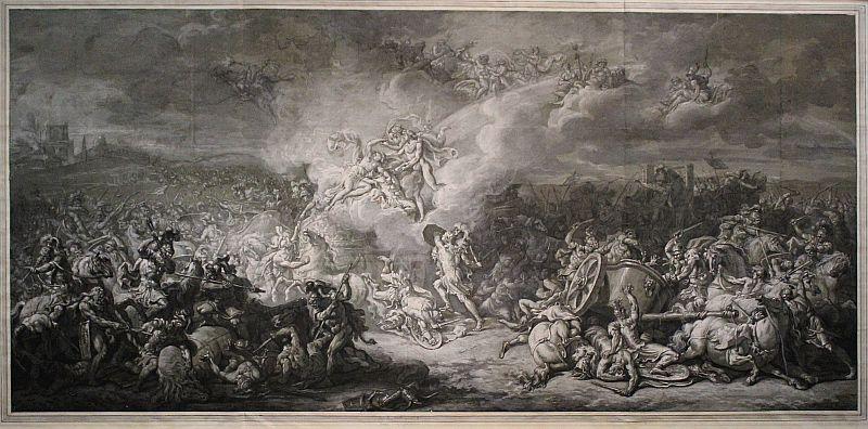 Jacques-Louis David, Die Kämpfe des Diomedes, 1776, Albertina, Wien, Foto: Alexandra Matzner.