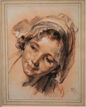 Jean-Baptiste Greuze, Ein lächelndes Mädchen, um 1765, Albertina, Foto: Alexandra Matzner.