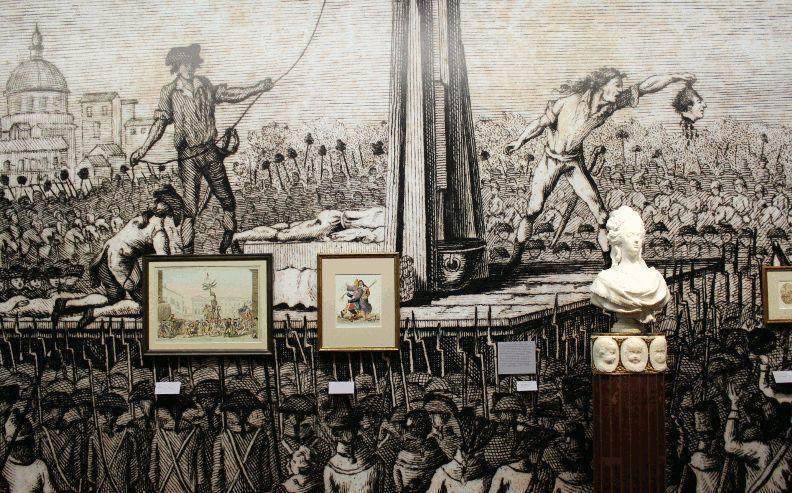 """Die Französische Revoluition, Installationsansicht Albertina, Wien """"Die Gründung der Albertina zwischen Dürer und Napoleon"""", Foto: Alexandra Matzner."""