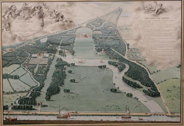 Francois Lefèbvre, Vogelschauansicht von Schloss und Park zu Laeken, 1787, Albertina, Wien, Foto: Alexandra Matzner.
