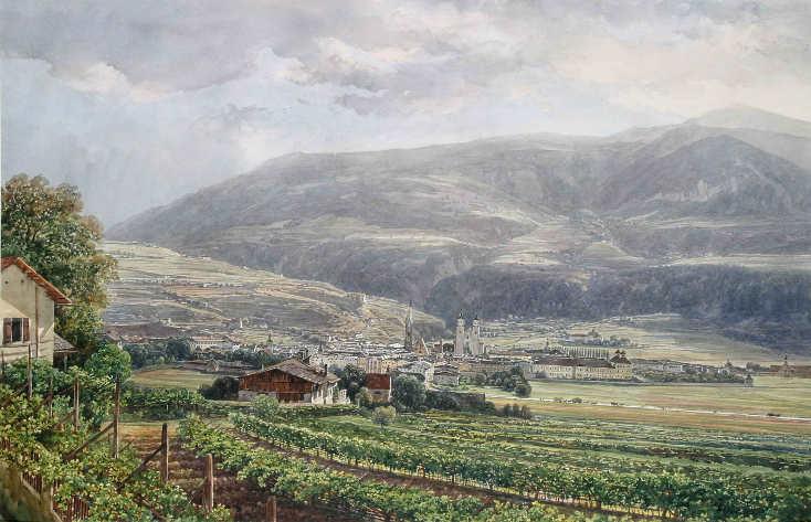 Thomas Ender, Ansicht von Brixen, 1845, Privatbesitz.
