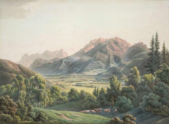 Johann Kniep, Admont mit dem Hochtor, 1808, Privatbesitz.