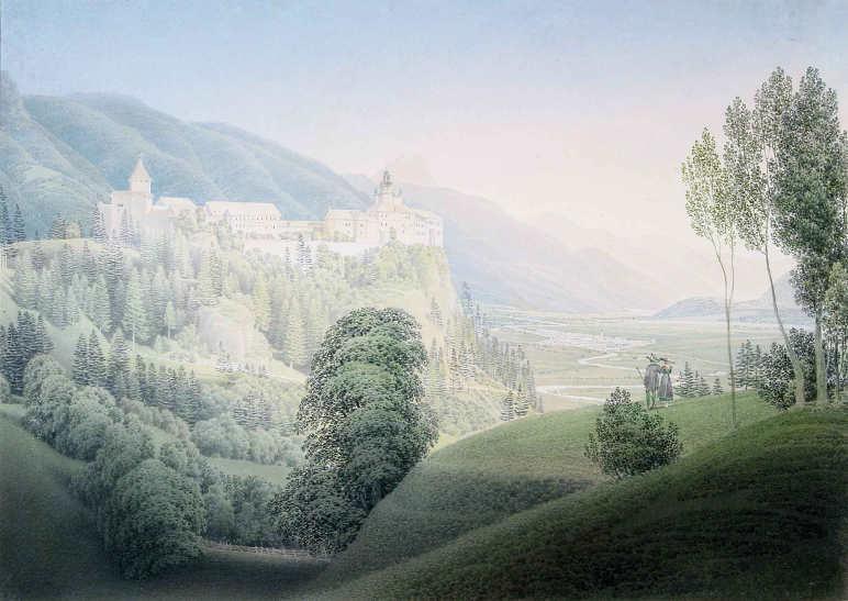 Matthäus Loder, Die Burg Strechau über Rottenmann, 1826, Privatbesitz.