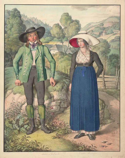 Karl Ruß, Bauernpaar aus Passail, 1813, Privatbesitz.