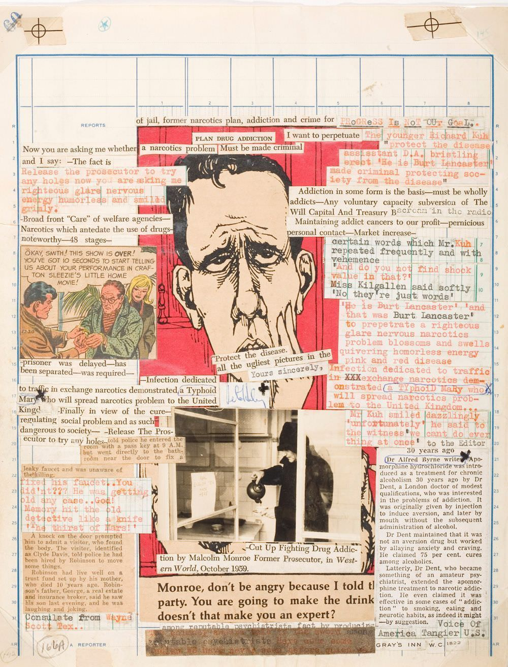 William S. Burroughs, Brion Gysin, Untitled (p. 157), um 1965, Mixed media/assemblage/collage, Los Angeles County Museum.