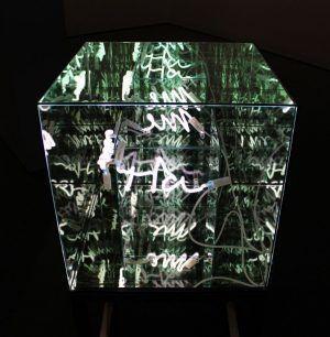 ria. Brigitte Kowanz, Memoria, 2006, Neon-Objekt, 60 x 60 x 60 cm, Foto: Alexandra Matzner © Belvedere, Wien – Schenkung der Künstlerin