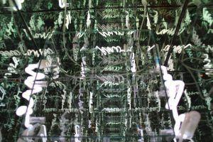 Brigitte Kowanz, Memoria, Einblick, 2006, Neon-Objekt, 60 x 60 x 60 cm, Foto: Alexandra Matzner © Belvedere, Wien – Schenkung der Künstlerin