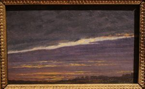 Caspar David Friedrich, Abendlicher Wolkenhimmel, 1824, Öl auf Leinwand, 12,5 x 21,2 cm, Foto: Alexandra Matzner © Belvedere, Wien – Schenkung Franz Josef Honig
