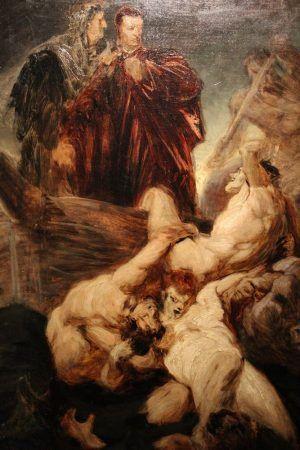 Hans Makart, Dante und Vergil im Inferno, um 1863/65, Öl auf Leinwand, 85 x 60 cm © Belvedere, Wien