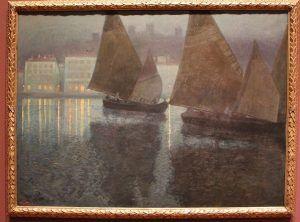 Hans Wilt, Mondnacht in einem istrischen Hafen, 1901, Öl auf Leinwand, 109 x 149 cm, Foto: Alexandra Matzner © Belvedere, Wien