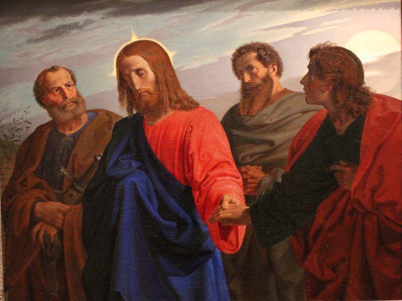 Joseph von Führich, Der Abschied Christi von seinen Jüngern, 1849 (Belvedere)
