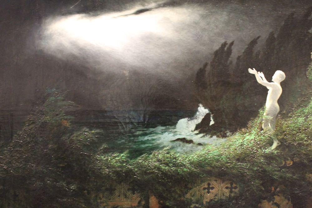 Karl Wilhelm Diefenbach, Villa Imperiale, Detail, um 1900, Öl auf Leinwand, 88 x 193 cm, Foto: Alexandra Matzner © Belvedere, sammlung schmutz, wien