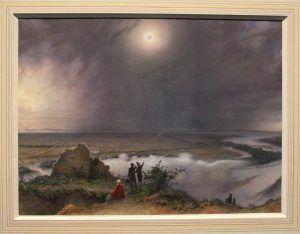 Leander Russ, Die Sonnenfinsternis am 8. Juli 1842, 1842, Aquarell und Deckfarben auf Papier, 42,1 x 56,8 cm (Albertina, Wien)