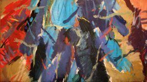 Max Weiler, Nacht, 1961, Eitempera auf Leinwand, 115 x 230 cm (Belvedere, Wien)