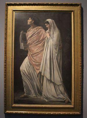 Anselm Feuerbach, Orpheus und Eurydike, 1869, Öl auf Leinwand, 200 x 126,5 cm, Foto: Alexandra Matzner © Belvedere, Wien